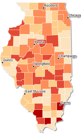 Illinois Hospital Report Card And Consumer Guide To Health Care - Map in illinois